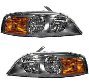 Headlights Headlight Embly W Bulb Pair Set For 2000 2001 2002 Lincoln Ls Ebay