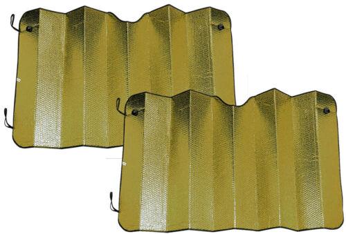2X parasole para sole pieghevole protezione auto automobile 150 x 79 cm ORO