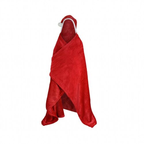 Luxury Printed Kids Hooded Snuggle Blanket Wearable Throw Sleeves Hand Mittens