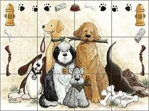 Tile-Mural-Backsplash-Ceramic-Jensen-Dog-Canine-Pet-Art-DJ004