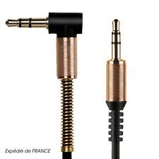 Câble Prise Jack 3.5mm Male/Male Coudé 90° Stéréo pour Smartphone Voiture Casque