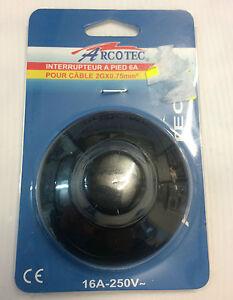 interrupteur-poussoir-a-pied-6A-Arcotec-pour-cable-de-section-maximum-2Gx0-75mm