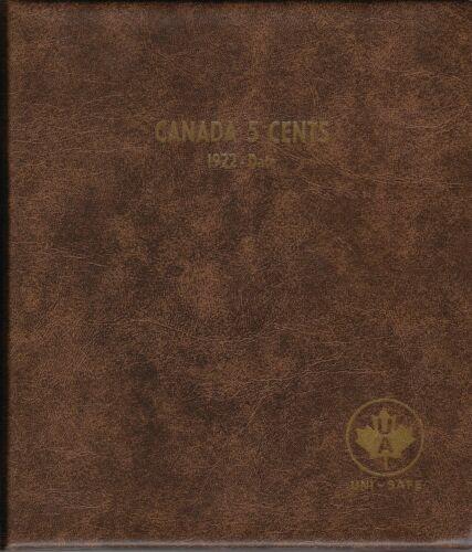 "/""Canada 5 Cents 1922-Date/""  Nickels Money Storage Unimaster Coin Album #155"