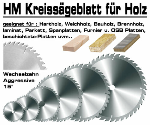 Hartmetall Kreissägeblatt 185 x 30 mm x 48 Zahn Holz Kappsäge Hand Kreissäge GPH