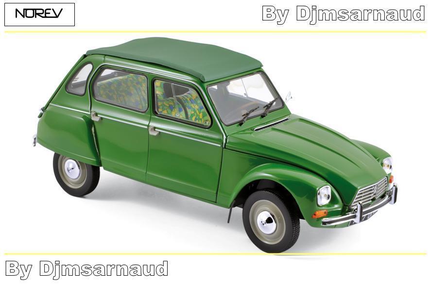 Citroën Dyane 6 de 1975 Tuileries vert NOREV - NO 181621 - Echelle 1 18