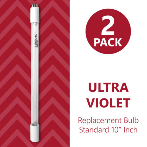10 inch Bulb Replacement 2 Pack RO System Ultraviolet Bulb for Filtration