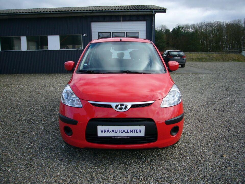 Hyundai i10 1,25 Comfort Benzin modelår 2010 km 73000 Rød