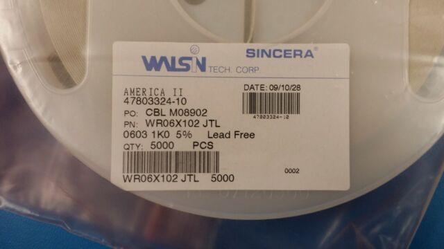 0603 SMD SMT Chip Resistor Resistance 1.2K Ohm 5/% 1/%