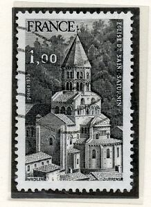 TIMBRE-FRANCE-OBLITERE-N-1998-EGLISE-SAINT-SATURNIN-Photo-non-contractuelle