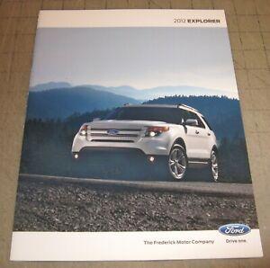 2012 FORD EXPLORER Color Dealer Brochure - Booklet - Nice! Frederick MD Motor Co