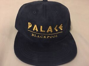 Image is loading Palace-Skateboards-Blackpool-Hat-Navy-DS-SS17 89c99148a72