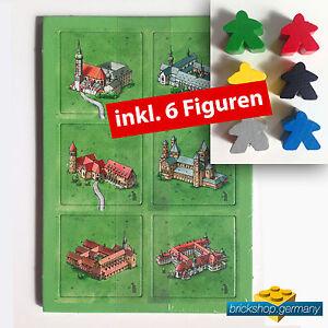 Carcassonne Erweiterung  - Klöster in Deutschland -   Extention + 6 Figuren !