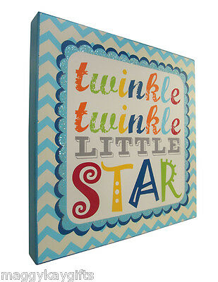 You Are My Sunshine Twinkle Twinkle Blue Pink Childrens Boy Girl Wall Pictures