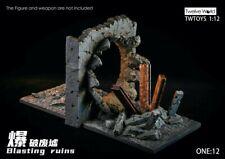 "TWTOYS 1//12 TW1924A Damaged Building Resin Scene Platform Fit 6/"" Soldier Figure"