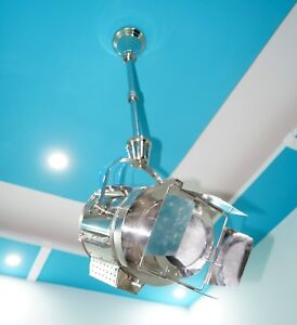 Nautical-Industrial-Wave-Hanging-Chrome-Pendant-Ceiling-Light-Beautiful-Item