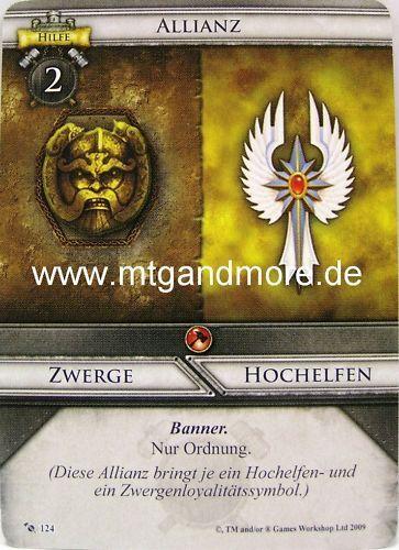 1x Allianz Zwerge Warhammer Invasion Hochelfen #124