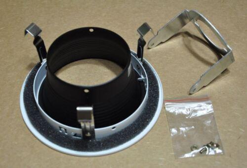 "4/"" INCH RECESSED CAN LIGHT STEP BAFFLE TRIM BLACK 120V 09-4TBB"