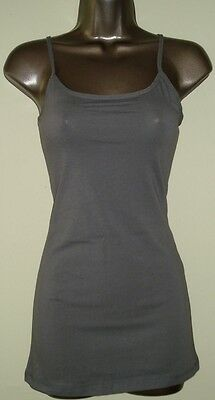 NEW Basic Solid Cami Spagetti Strap Tank Tunic Top- Great Quality-S-M-L