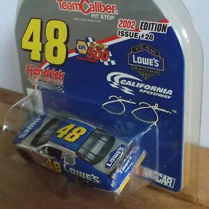 48-Jimmie-Johnson-NASCAR-1-64-T-C-Diecast-Car-2002-LOWES-w-ROOKIE-STRIPE-BUMPER