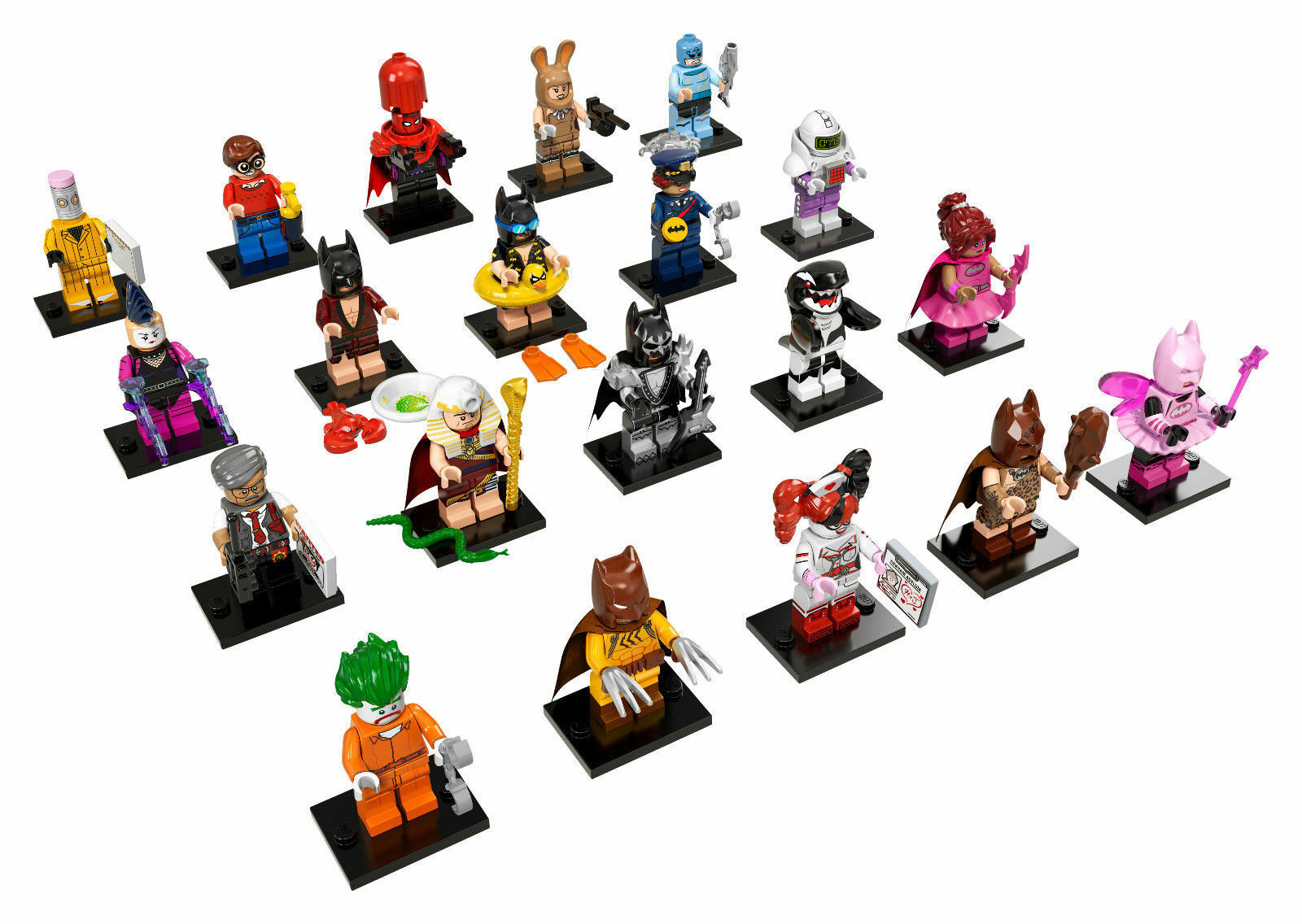 71017 LEGO BATMAN MOVIE Minifiguren alle 20 komplet Lovin Barbara Batgirl Gordon