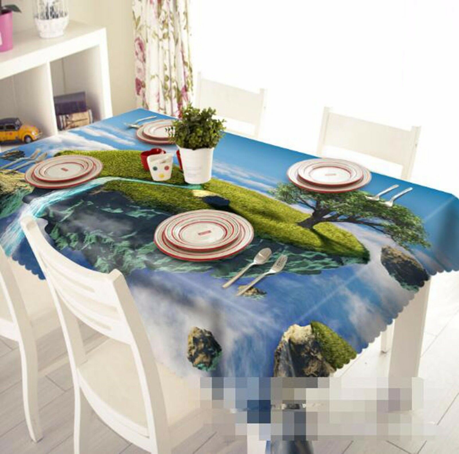 3D Islands 45 Tablecloth Table Cover Cloth Birthday Party AJ WALLPAPER UK Lemon