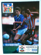 MINT 1991/92 Southampton v Manchester United FA Cup 4th Rd