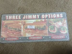 AUTHENTIC Jimmy John/'s Metal Sign Advertising NEW Handcrafted Sandwiches RARE