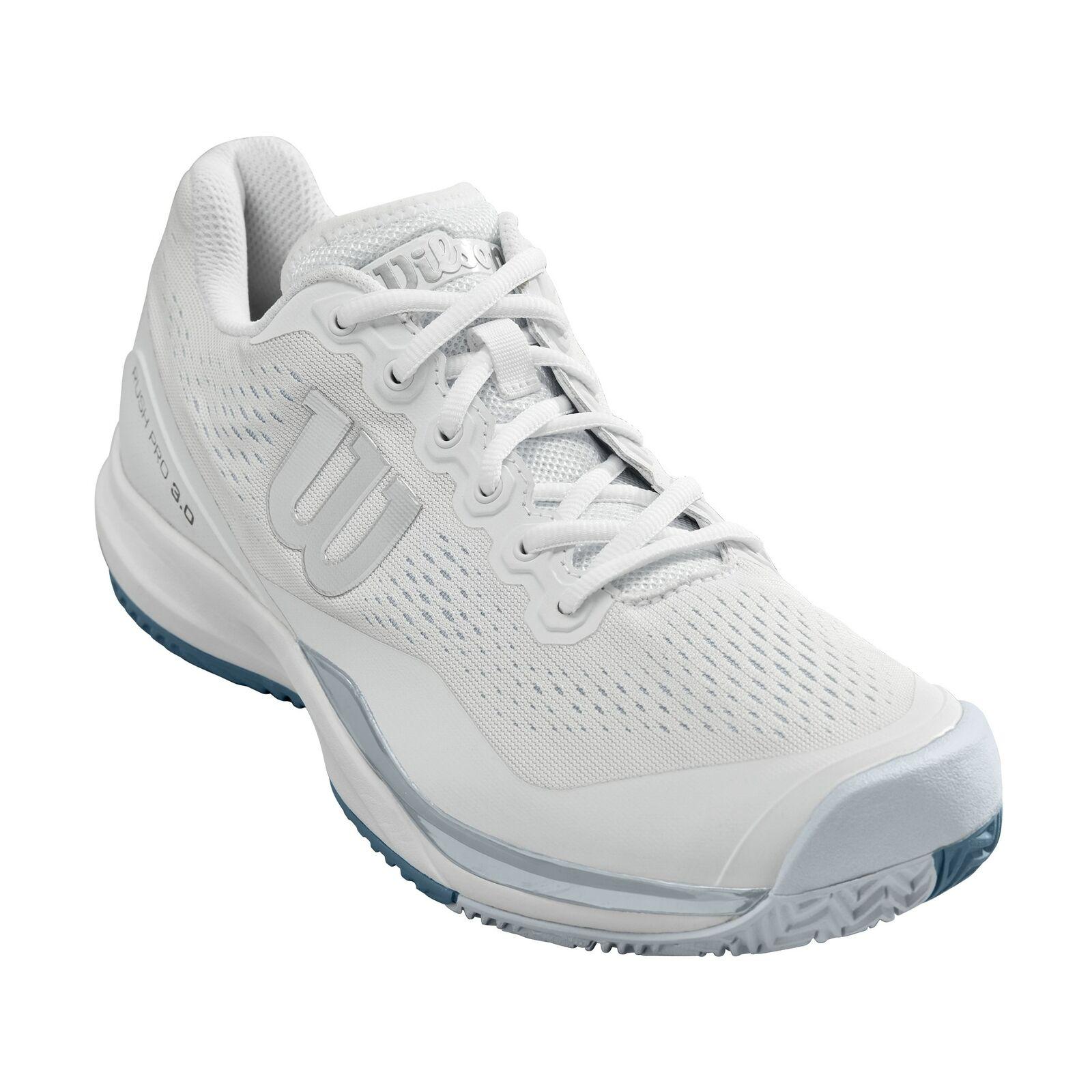 Wilson Rush Pro 3.0 Para Hombre transpirable acolchada en todos los zapatos tenis Tribunal