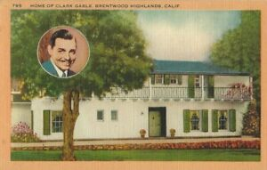 CLARK-GABLE-HOME-OF-CLARK-GABLE-BRENTWOOD-HIGHLANDS-CALIFORNIA-POSTCARD