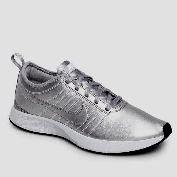 New Beautiful NIKE Ladies argento Dual Racer scarpe  da ginnastica 7  punti vendita