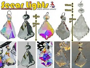 CHANDELIER-DROPLETS-LEAF-PRISMS-BEADS-DROPS-ANTIQUE-AB-or-CLEAR-GLASS-CRYSTALS