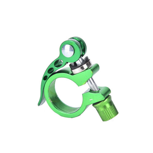 Alloy Cycling Bike Quick Release Seat Post Bolt Binder Clamp 28.6//31.8mm HI