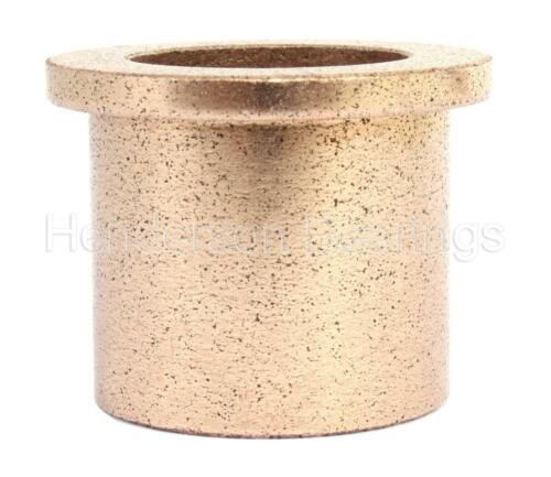 "AJ121624 Oil Filled Sintered Bronze Bush Flanged Inch 3//4x1x1-1//2/"""