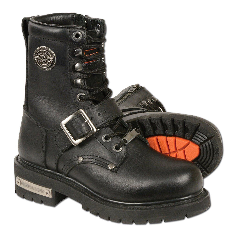 Milwaukee Leather para mujer botas Motocicleta Clásica 5.5 Negro Company