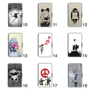 Banksy-Graffiti-Wallet-Phone-Case-Samsung-Galaxy-S6-S7-Edge-S8-Plus-Panda-Peace