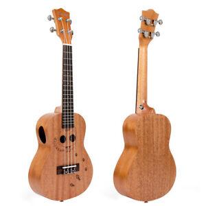 Kmise-Concert-Ukulele-23-inch-Hawaii-Guitar-Carved-Cat-Mahogany-Ukelele-Uke