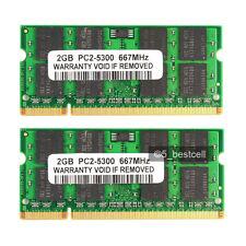 4GB 2X2GB PC2-5300 DDR2 667MHZ Acer Aspire 4730 5330 5335 5515 5730 8730 8920