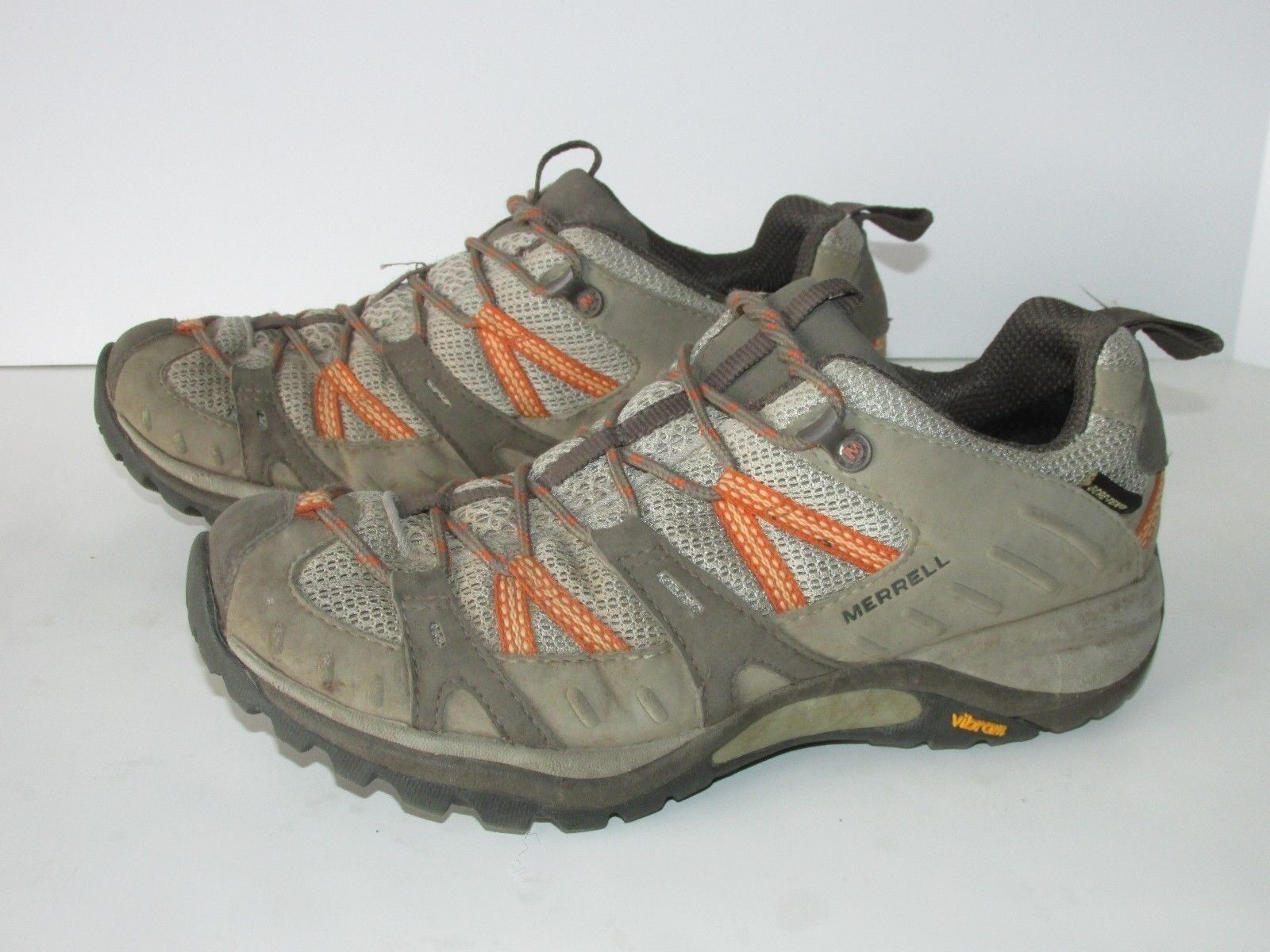 Merrell Siren Sport GTX XCR Brown Orange Hiking Tail Shoes Women's 9M