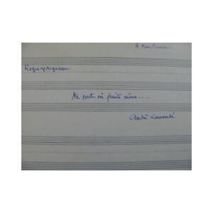 Antiquarische Noten/songbooks LiebenswüRdig Mougneau Roger Ne Halterung Ni Obst Musikinstrumente Reife Manuskript Chant Piano Partitur Verschiedene Stile