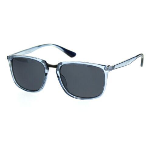 Antiglare Polarized Lens Mens Rectangular Slick Designer Sunglasses