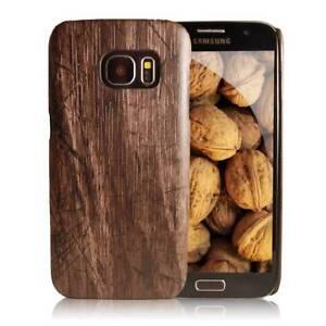 Handy-Schutz-Huelle-fuer-Samsung-Case-Cover-Bumper-Tasche-Natur-Holz-Braun-Schale