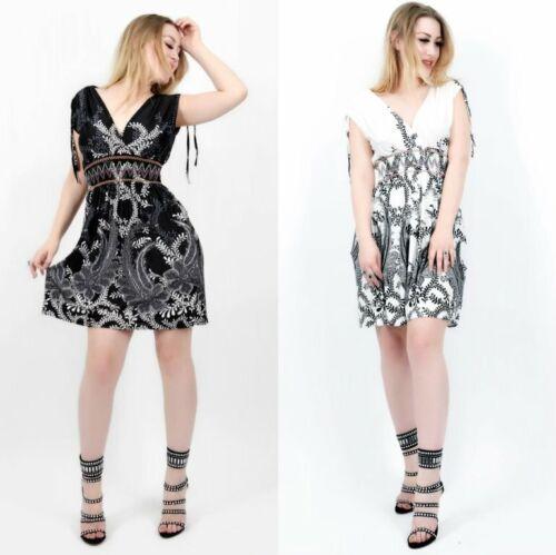 Tunika Kleid Empire Taille leichtes Sommer Dress beach Party Boho
