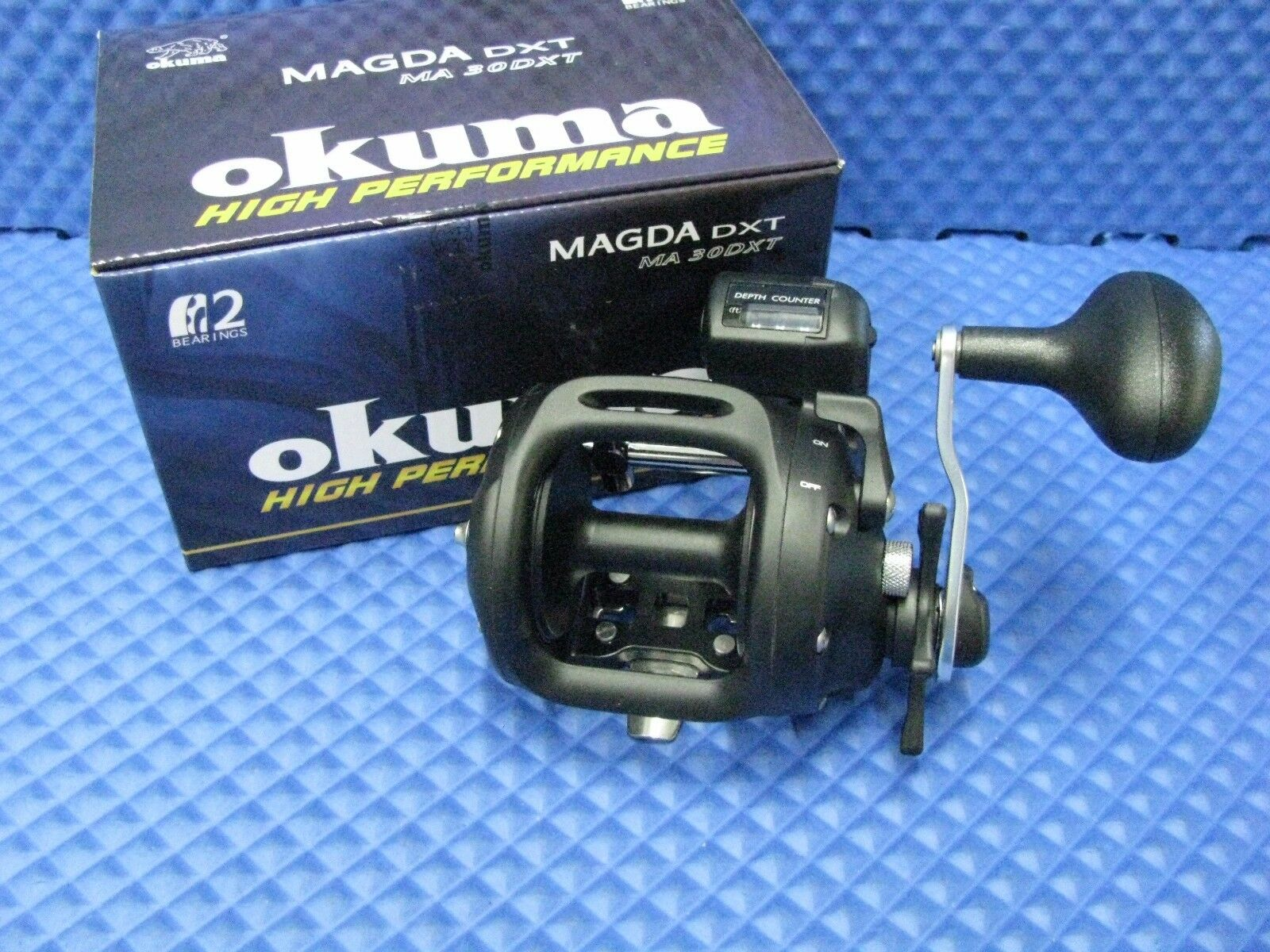 Okuma Magda Pro Counter MA 30DXT Line Counter Pro Trolling Reel NEW 2ca0cb