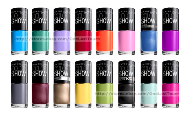 Maybelline Color Show Corrupted Black 708 Nail Polish Qty. 4 for ...