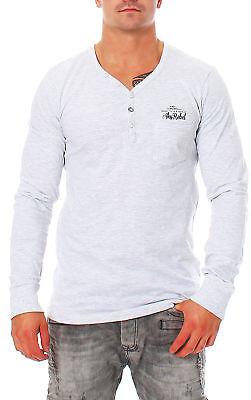 Aggressiv Sky Rebel T-shirt Herren Langarm Shirt Oberteil Pulli Sweatshirt Hoodie Knöpfe Um Zu Helfen, Fettiges Essen Zu Verdauen