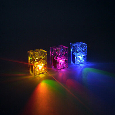 5 x LED Brick LIGHTS compatible with Laser Pegs Bricks BLUE /& RED FREE AXLE!