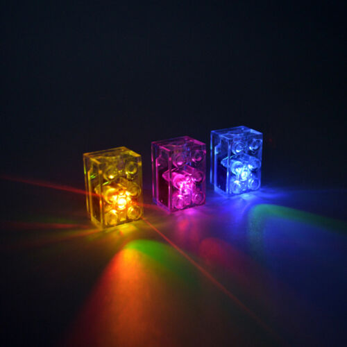 5 x LED LUNAR LIGHTS compatible with LEGO Bricks Multi colour FLASH FREE AXLE!