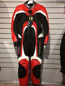 giacca nera bianca e rossa moto in pelle donna ancona