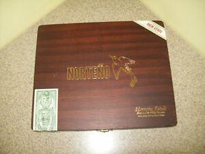 Norteno-Herrera-Esteli-6-x-50-Toro-Hinged-Wood-Cigar-Box-Empty