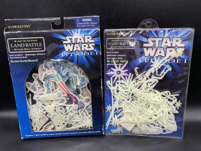 Star Wars Episode I Glow in the Dark LAND BATTLE  Action Wall Scenes Lot Of 2